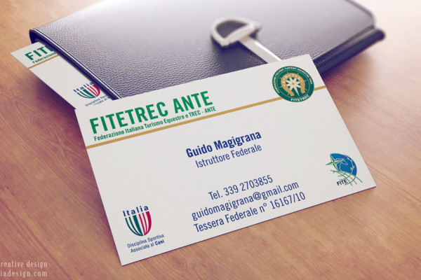 Business Card Design | Istruttore Fitetrec-Ante Magigrana
